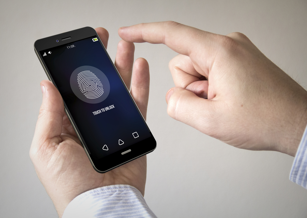 man-mobile-smart-phone-with-fingerprint-on-the-screen