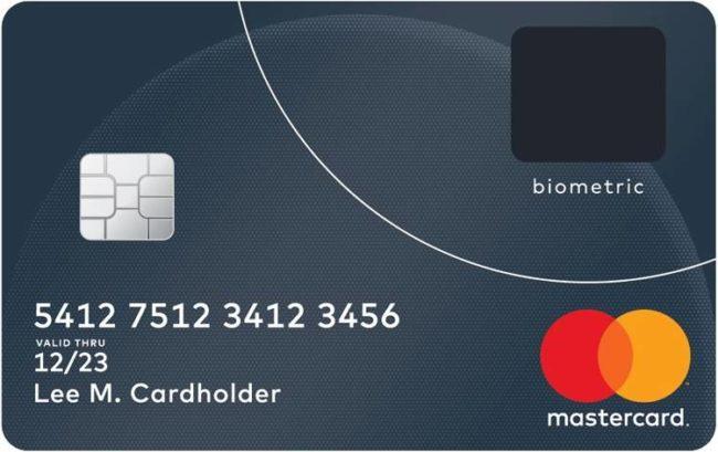 Mastercard з датчиком відбитків пальців