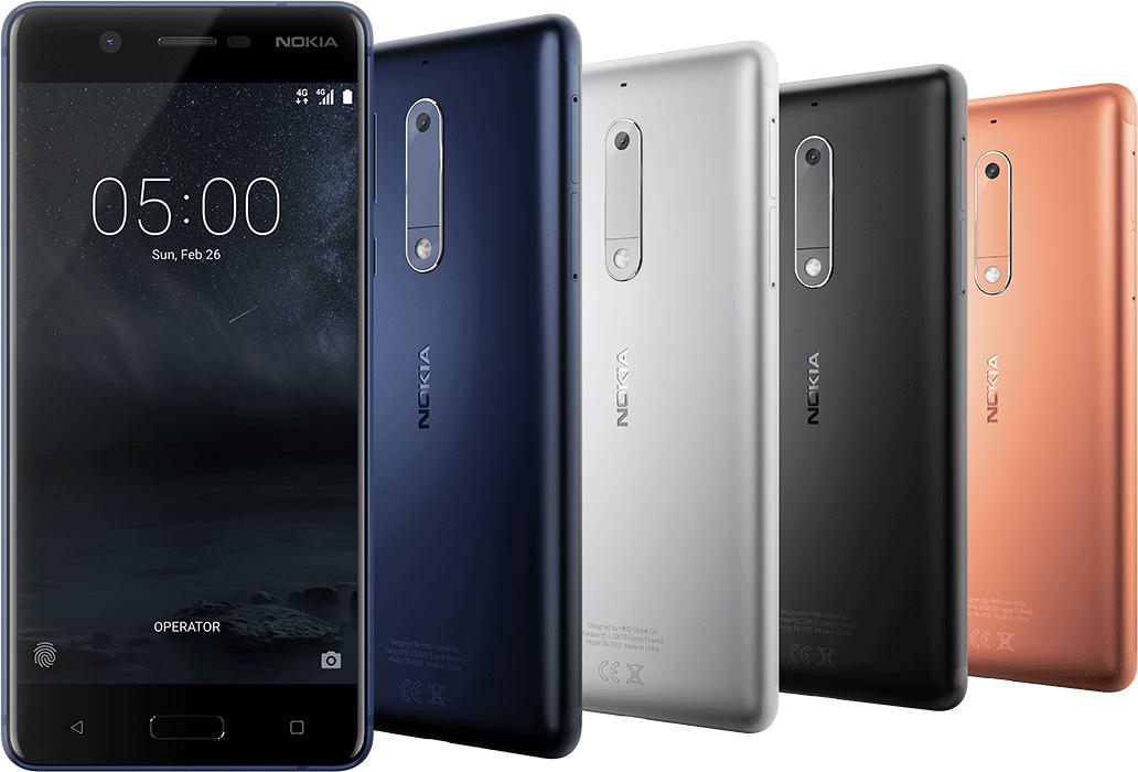 Nokia 5 має екран 5.2 дюйми