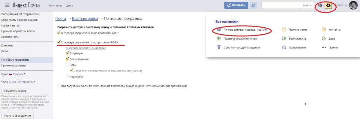 Нужно установить галочки, чтобы Gmail смог забрать почту с Яндекса.
