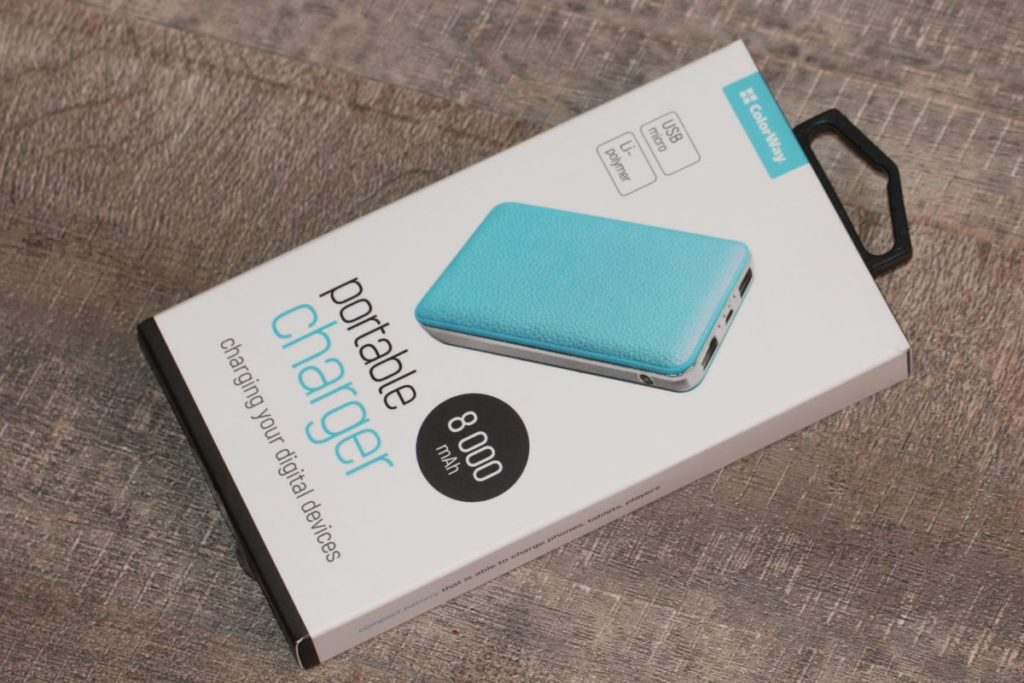 ColorWay 8000 mAh Blue (CW-PB080LPA2BL). Упаковка