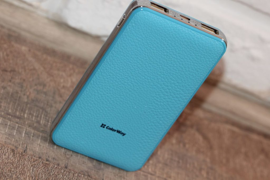 ColorWay 8000 mAh Blue (CW-PB080LPA2BL). Материалы корпуса