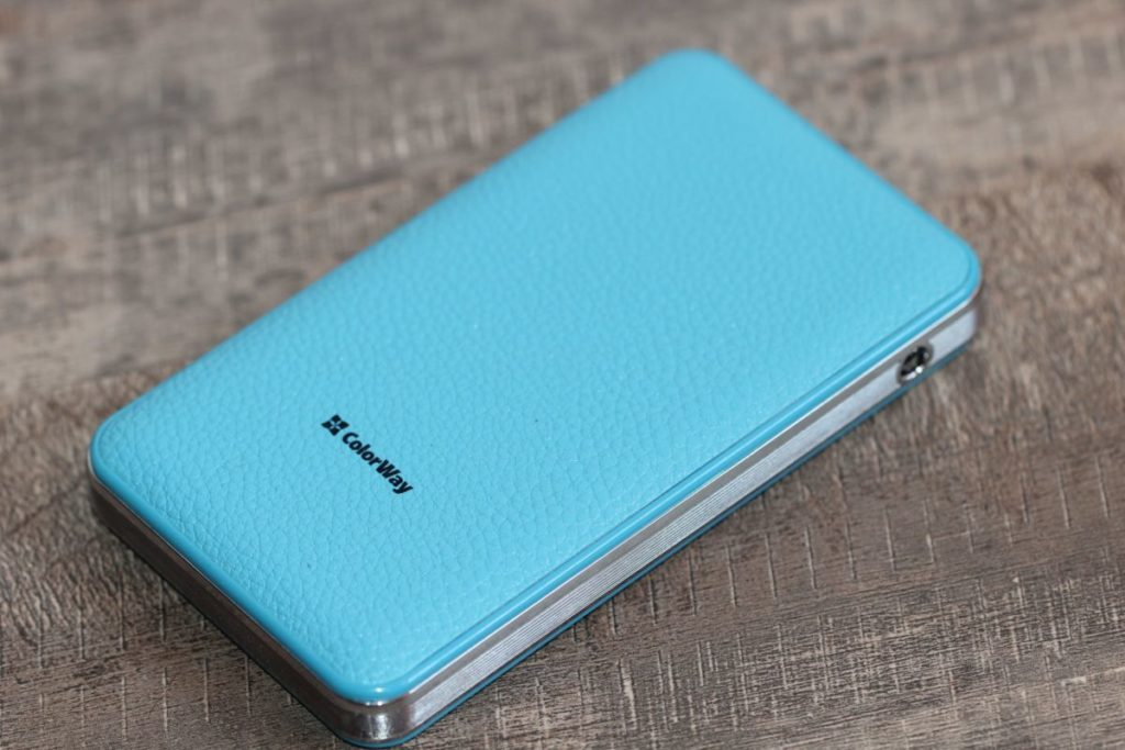ColorWay 8000 mAh Blue (CW-PB080LPA2BL). Впечатление от дизайна