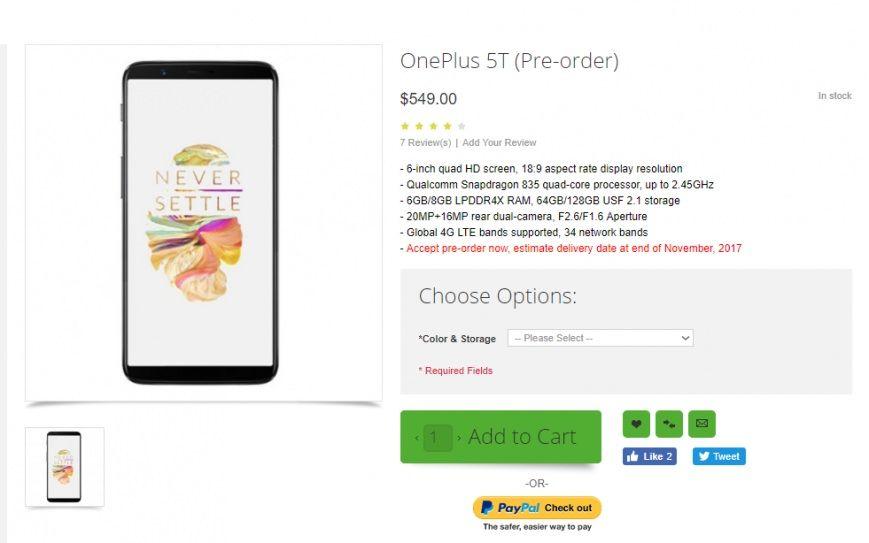 OnePlus 5T. Де купити OnePlus 5T