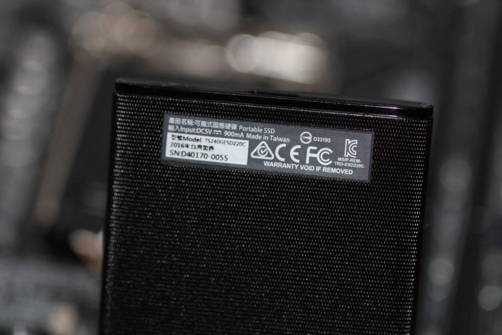 Transcend ESD220C. Інформація за SSD