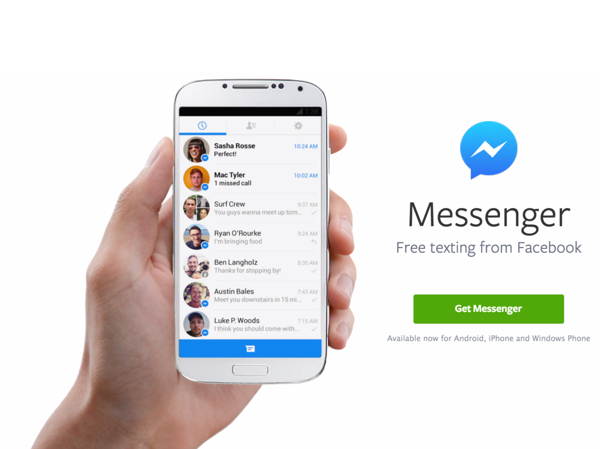 Messenger facebook home